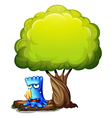 A monster crying under the tree vector image vector image
