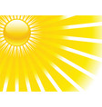 summer sun rays vector image vector image