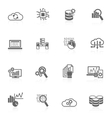 Database analytics icons black vector image vector image