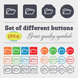 Folder icon sign Big set of colorful diverse vector image vector image