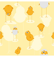 funny chicks pattern vector image vector image