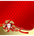 Christmas New Years greeting card vector image