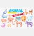 farm animals set in sketch style on colorful vector image
