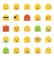 Flat Design Emoji vector image