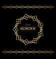 golden border and mandala frame vector image