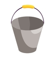 Metal bucket icon cartoon style vector image