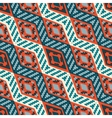Red and blue diagonal stripped african geometric vector image