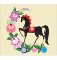 Folklore pattern Gorodets painting Russia vector image vector image