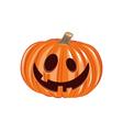 Smile Pumpkin Halloween Design Element Isolated vector image