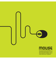 Line in the form of a computer mouse vector image