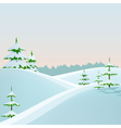 winter styled landscape vector image vector image