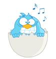 Blue Bird In Egg Speech vector image