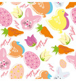 Colorful easter seamless pattern background vector image vector image