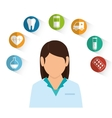 female doctor medical healthcare vector image