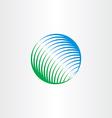 green blue globe natural circle logo icon vector image