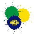 Grunge Spots using Brazil flag colors vector image