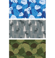 Military set of textures Winter blue Camo made of vector image