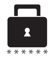 Security icon on a white background SingleSeries vector image