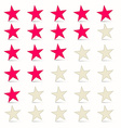 Simple Stars Set - Rating Symbols vector image