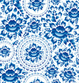 Vintage Seamless ornament pattern with blue vector image