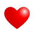 with valentine heart in red vector image