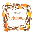 Hello Autumn Background Bright branch and leaves vector image