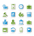 Office and Finance Icons vector image vector image