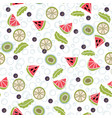 detox water of fresh fruit seamless pattern vector image vector image