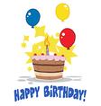 Birthday celebration cartoon vector image vector image