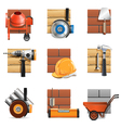 Construction Work Icons vector image