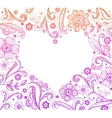 Heart shape frame vector image vector image