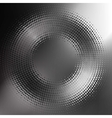 abstract black-and-white halftone circle vector image