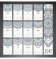 Calendar in ethnic style vector image