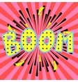 Comic book boom inscription effects vector image