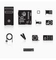 Computer accessories vector image