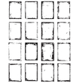 Frame grunge set vector image