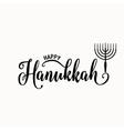 happy Hanukkah lettering vector image