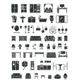 Home furniture icons vector image