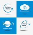 plane logo set air travel logos or flight vector image vector image