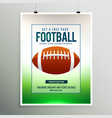 rugby football game flyer template vector image