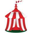 Red circus tent icon vector image vector image