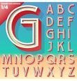 retro alphabet for summer typography design vector image vector image
