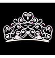 feminine wedding diadem vector image vector image