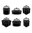 boxes black silhouettes vector image