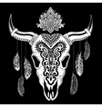 Tribal animal skull vector image vector image