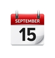September 15 flat daily calendar icon vector image