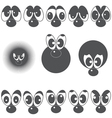 A set of eyes with a nose vector image