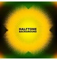 abstract color halftone circle vector image