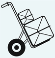 Box on sack truck vector image