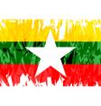 Flag of Myanmar vector image